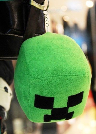 Plush pendant green head
