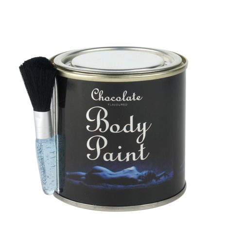 Chocolate body<br>paint in a can