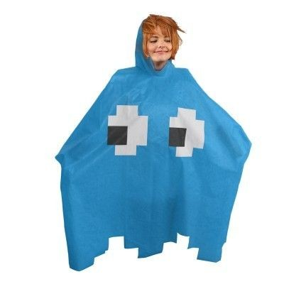 Poncho Retro Game - Blauw