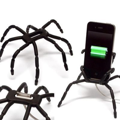 Handle spider on<br>the phone - black