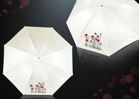 Umbrella in a vase - red