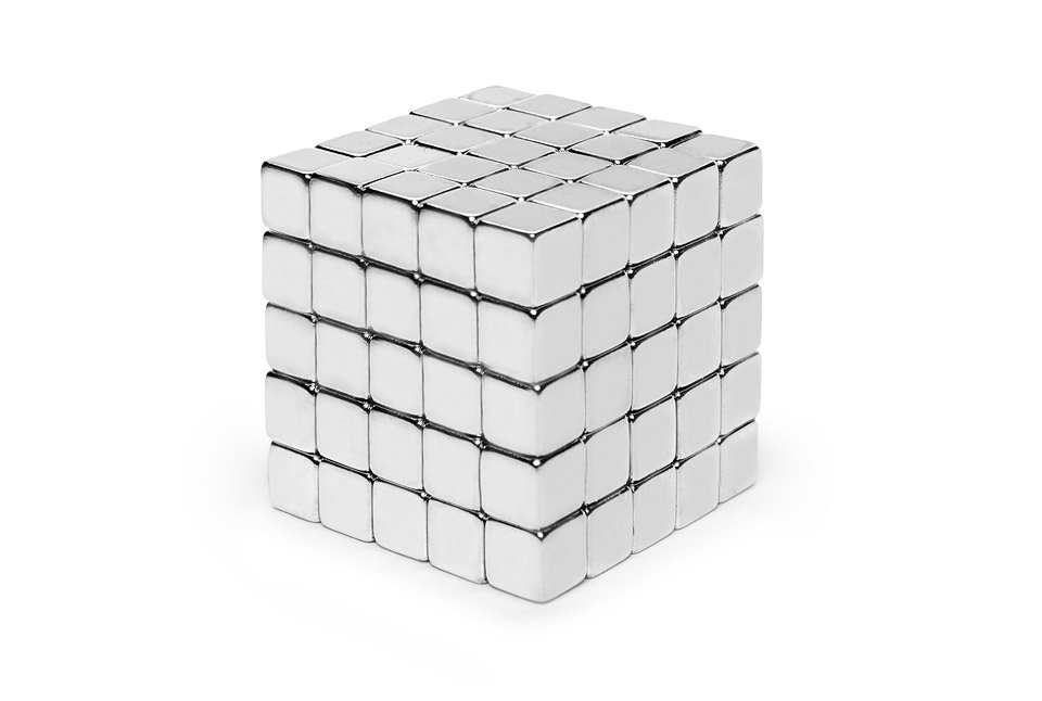 Cubic Neocube -<br> Magnetic silver<br>cubes