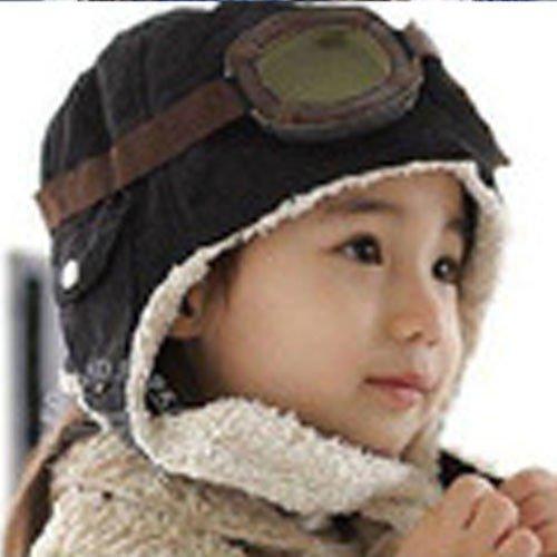Czapka pilotka dla<br>dzieci - czarna