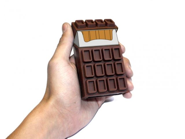 Chocolate box for cigarettes