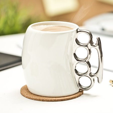 Brass Knuckle Mug - white