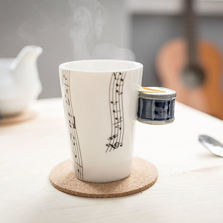 Music mug - DRUM - blue