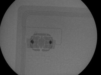 Prześwietlona zbliżeniowa karta kredytowa (X-RAY)