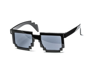 8 bit pixel sunglasses - black