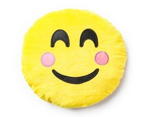 Emoji pillow BLUSHING