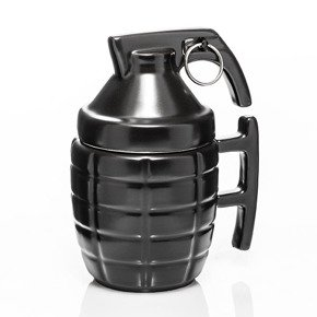 Grenade mug with a PIN - BLACK
