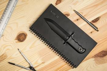 Knife notepad
