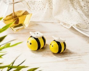 """Meant to Bee"" Honeybee Salt & Pepper Shakers"