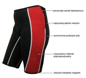 Neoprene slimming shorts red/black