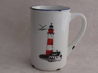 Retro porcelain mug - Light house