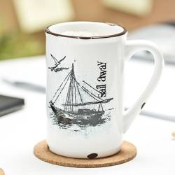 Retro porcelain mug - Sail away