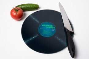 Retro vinyl chopping board