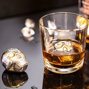 Skull ice cubes 4 pcs