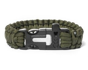 Survival bracelet 3in1 ARMY GREEN