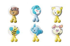Toothbrush funny holders ANIMALS 6 models assortd