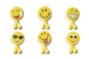 Toothbrush funny holders EMOJI 6 models assorted