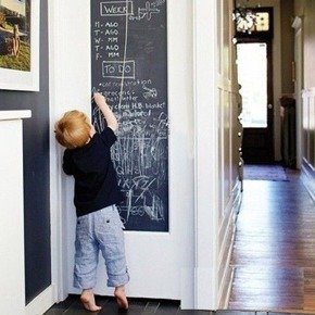 Vinyl Chalkboard Wall Sticker with chalks