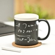 Black board mug with chalk