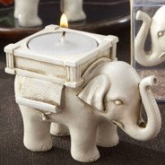 Lucky elephant tealight holder