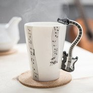Music mug - BLACK GUITAR