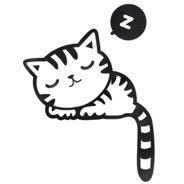 Sleepy Kitty Cat - Switch/ Wall Sticker