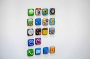 iPhone Apps Fridge Magnet Set