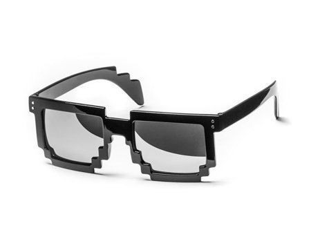 8 bit pixel sunglasses - black/mirror