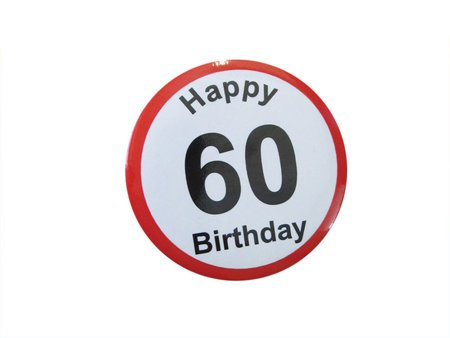 Badge Happy Birthday - 60