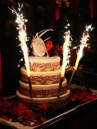 Birthday cake sparkles 4 pcs.