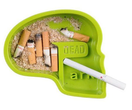 Dead park ashtray - green