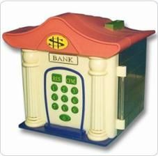 Electronic family coin bank
