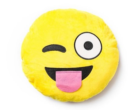Emoji pillow SILLY WINK