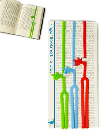 FINGER book marks - 3 pcs.