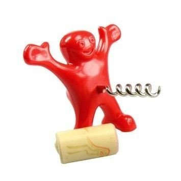 Happy man corkscrew
