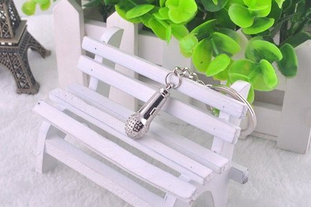Music key ring - microphone
