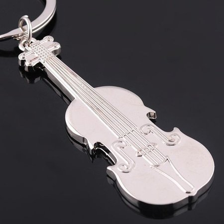Music key ring - violin