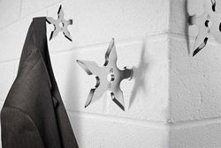 Ninja star wall hook