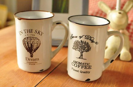 Retro porcelain mug - tree