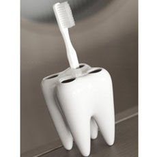 Teeth holder for toothbrush
