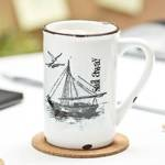Porcelanowy kubek retro - Sail away