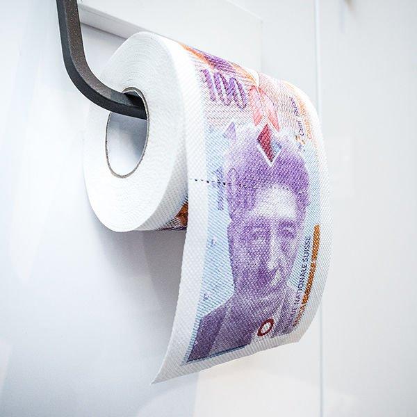 Toaletní papír 100 švýcarských franků