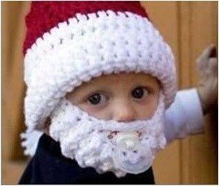 Dětská čepice Santa Claus s vousy