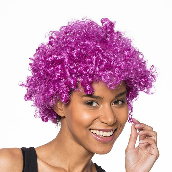 Afro paruka fialová