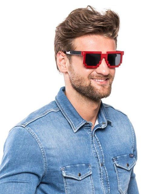 Pixel brýle červená