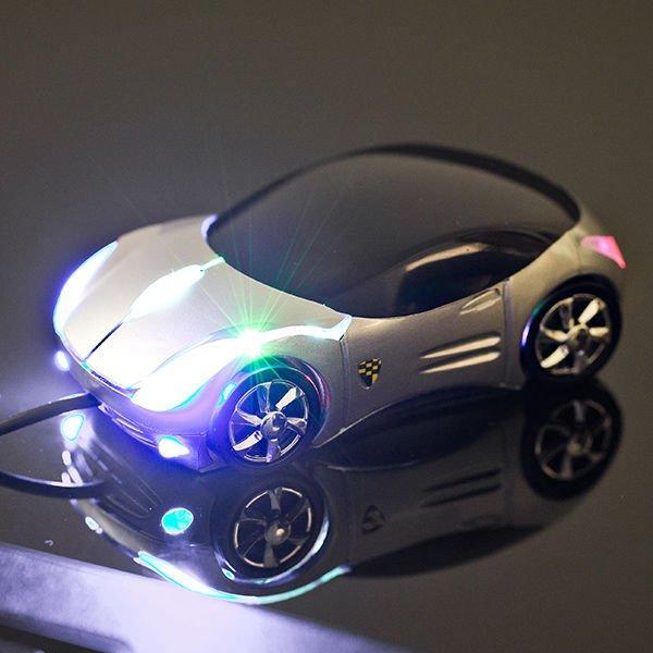 Supercar myš - stříbrná