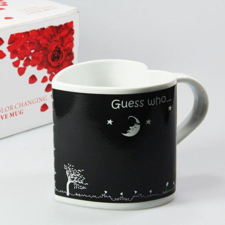 Love color changing mug ENGLISH - HEART SHAPED